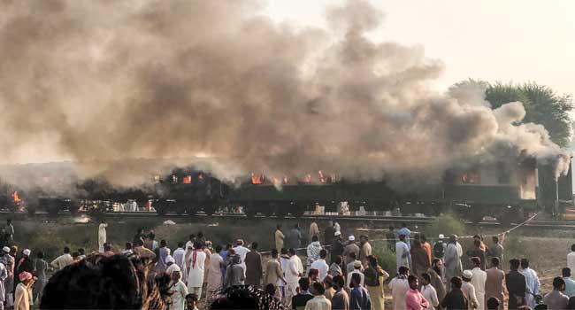 At Least 74 Killed In Pakistan Train Fire