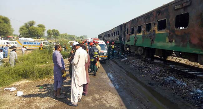 Over 65 Persons Killed After Gas Cylinder Explodes On Train