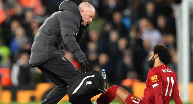 Salah's Ankle Nothing To Worry About, Says Klopp
