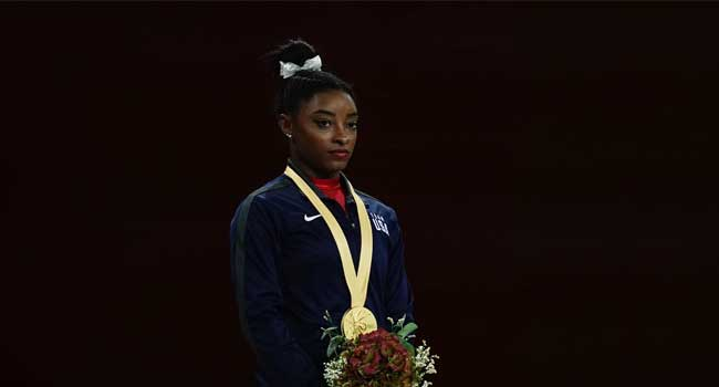 Biles Wins Record-Equalling 23rd Worlds Medal