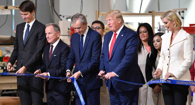 Trump Inaugurates New Louis Vuitton Production Site
