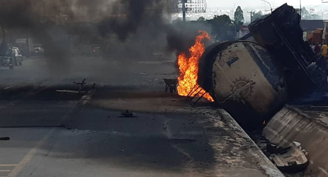 Petrol Tanker Explodes In Anambra, Kills Mother And Child