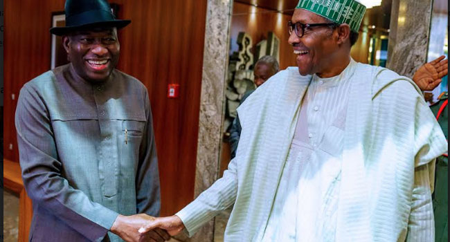 PHOTOS: Buhari, Jonathan Meet In Abuja