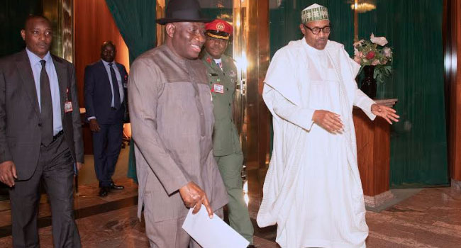 PHOTOS: Buhari, Jonathan Meet In Abuja