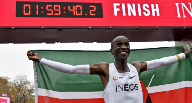 Kenya's Kipchoge Breaks Two-Hour Marathon Barrier
