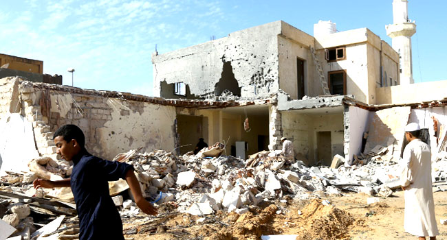 Three Children Killed In Libya Air Strike