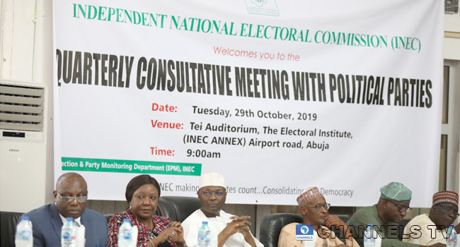 INEC Meets With Political Parties Ahead Of  Kogi, Bayelsa Elections