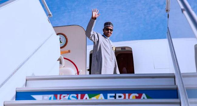 PHOTOS: Buhari Departs Sochi For Abuja