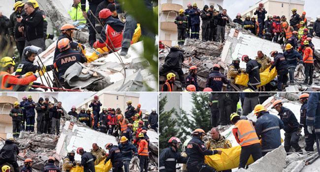 Almost 50 Dead, More Than 5,000 Displaced In Albania Quake