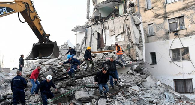 Four Dead, 150 Injured In Albania Earthquake