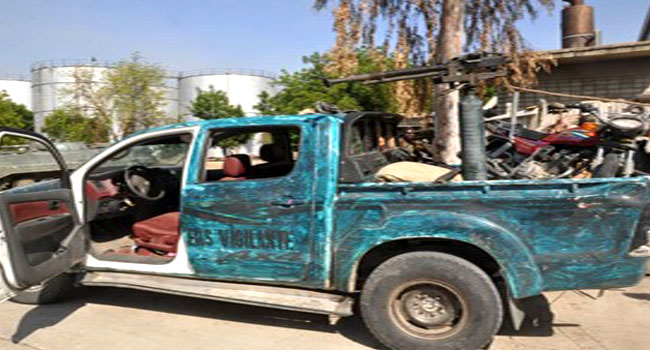 Insurgents Flee, Abandon Gun Trucks After Failed Ambush