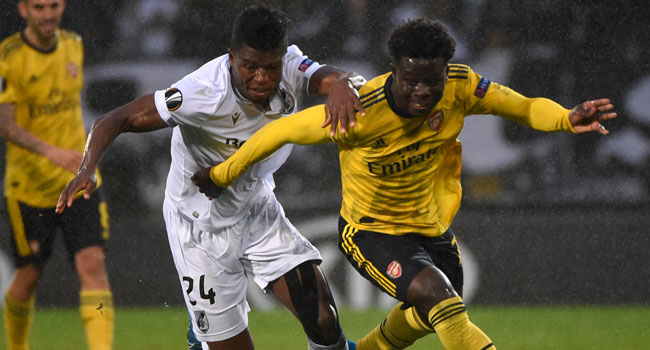 Europa League: Arsenal Held By Vitoria Guimaraes 1-1