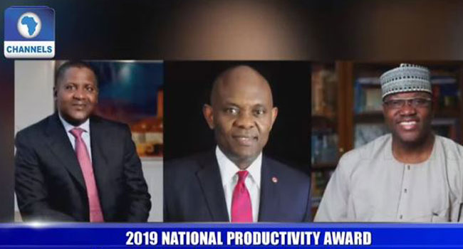 Dangote, Momoh, Elumelu, 23 Others Bag National Award
