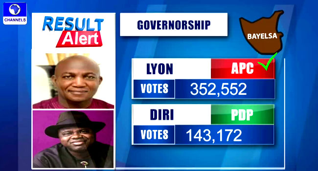 Bayelsa Election4 1 - INEC Declares APC's David Lyon Winner Of Bayelsa Governorship Election