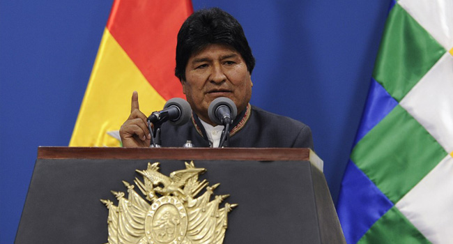 Helicopter Carrying Bolivian President Makes Emergency Landing
