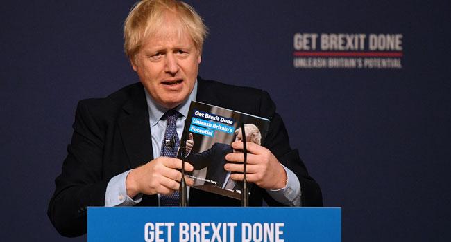 Johnson Unveils Manifesto For Brexit Britain