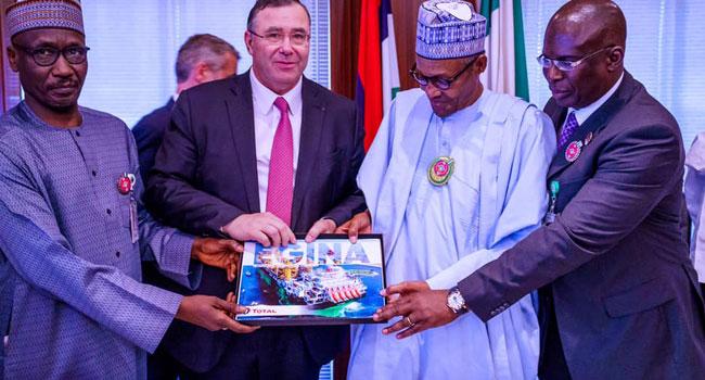 Photos: Buhari Receives CEO Total Group Worldwide