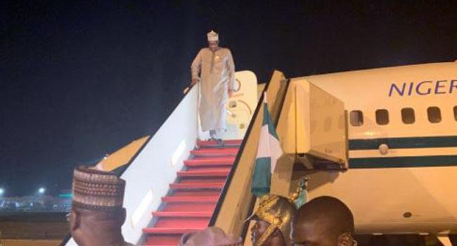 Buhari Returns From Private Visit To UK