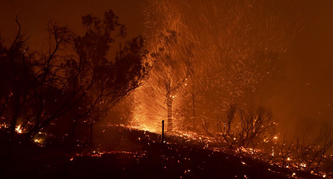 Firefighters Battle New Blaze In California