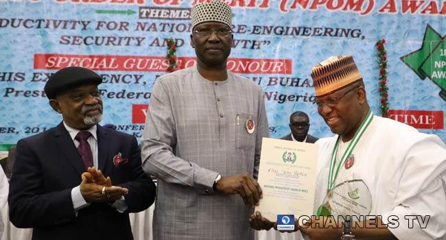 PHOTOS: Dangote, Momoh, Elumelu, Others Receive National Productivity Award