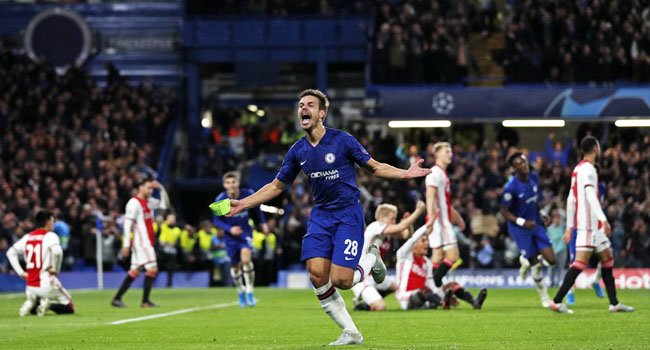 Chelsea Fightback Salvages 4-4 Draw Against Nine-Man Ajax
