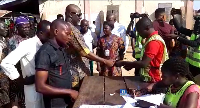 Dino Melaye Votes In Kogi West Senatorial Race
