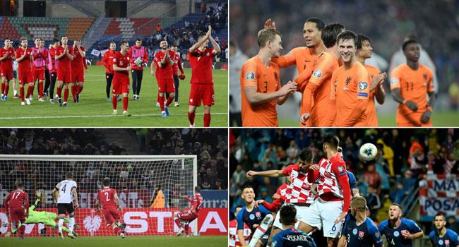 Euro 2020 Takes Shape As Netherlands, Germany And Croatia Qualify