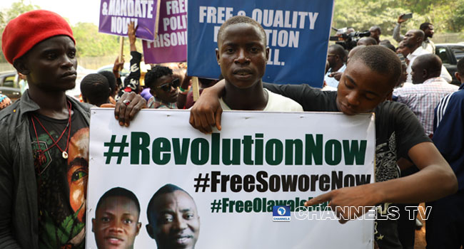 DSS Disperses Protesters Demanding Sowore's Release