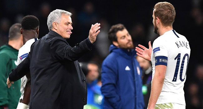 Mourinho Says Kane 'Irreplaceable' Ahead Of Tottenham, Liverpool Clash