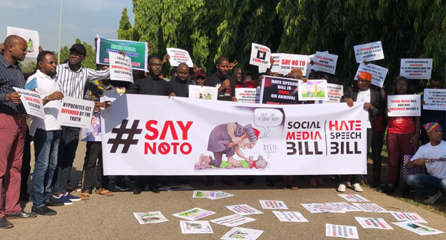 PHOTOS: Protesters Storm National Assembly Over Hate Speech Bill