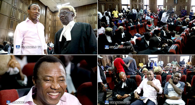 Photos: Omoyele Sowore's Trial Begins At Federal High Court
