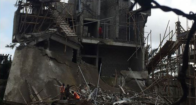 BREAKING: Three-Storey Building Collapses In Lagos - CHANNELS TELEVISION
