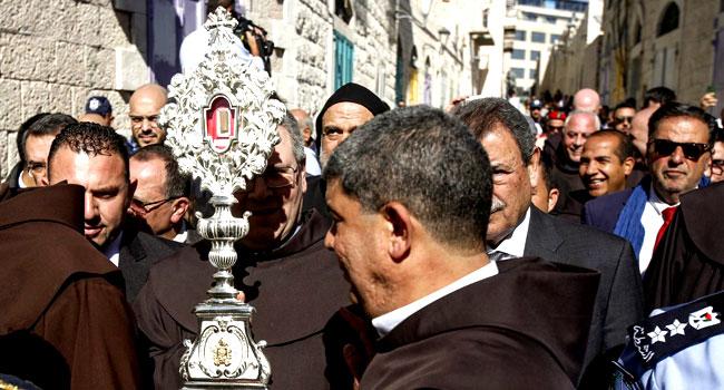 Fragment Of Jesus' Manger Arrives In Bethlehem From Europe