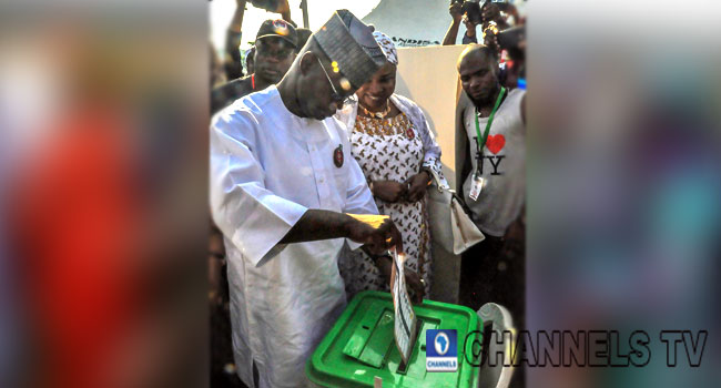 Kogi Elections: Governor Yahaya Bello, Wife Vote