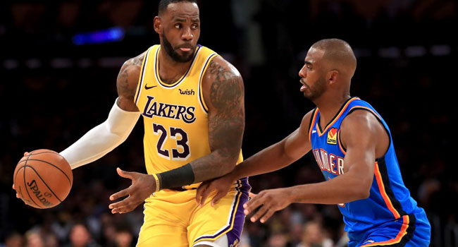 Triple-Double History For King James As Lakers Roll Thunder