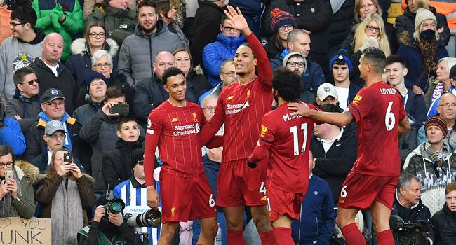 Van Dijk's Brace Help 10-Man Liverpool Beat Brighton