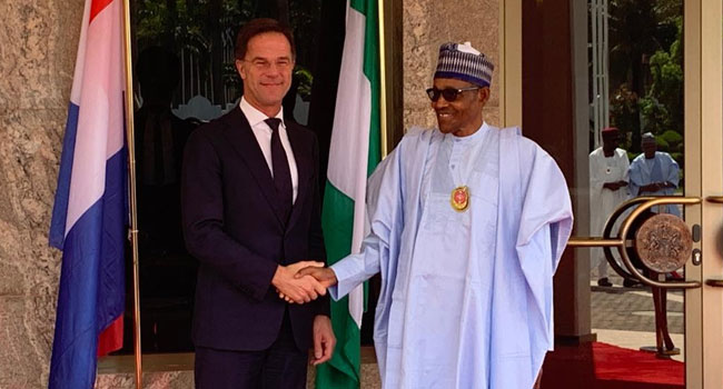 PHOTOS: Buhari Hosts Netherland's Prime Minister In Abuja