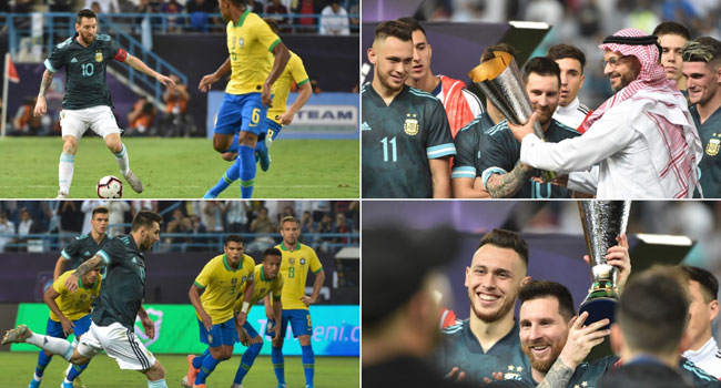 Messi Scores On Argentina Return To Sink Brazil