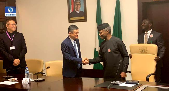 Osinbajo Receives Alibaba Group Co-Founder, Jack Ma In Abuja - Channels Television