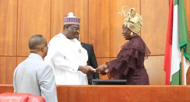 PHOTOS: Lawan Swears-In Olujimi As Senator