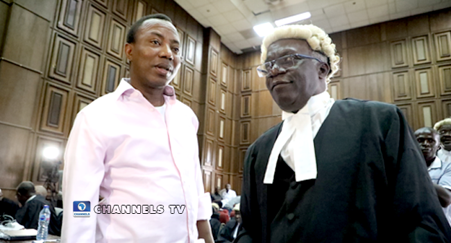 Another Disgraceful Justification By SSS For Detaining Sowore – Falana