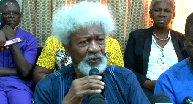 Soyinka Calls For 'Holistic Approach' To Nigeria's Security Challenges