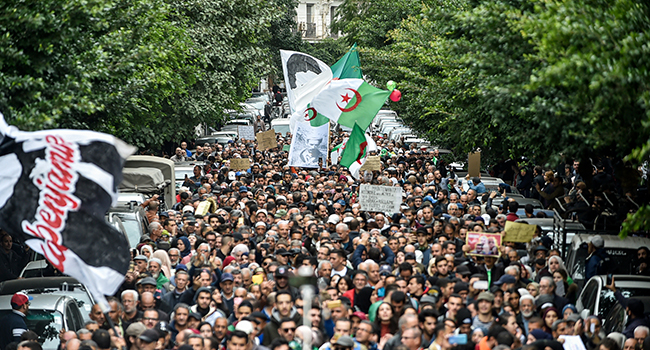 Algerians Protest Against Newly Elected President