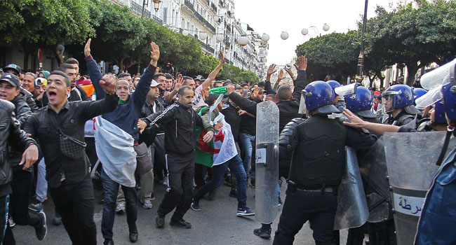 Protesters Storm Polling Station In Algeria