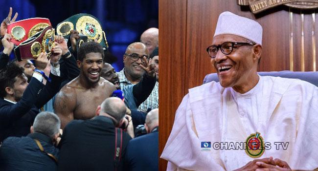 'Thumbs Up' World Heavyweight Champion, Buhari Salutes Joshua On Comeback Victory