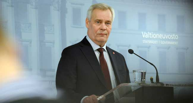 Finland PM Rinne Resigns After Losing Support