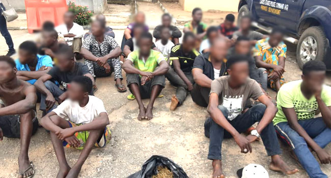 Police Arrest 24 'Awawa Boys', Suspected Cultists In Oshodi