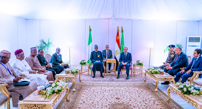 Buhari, Egypt's El-Sisi Pledge Joint Action Against Terrorism