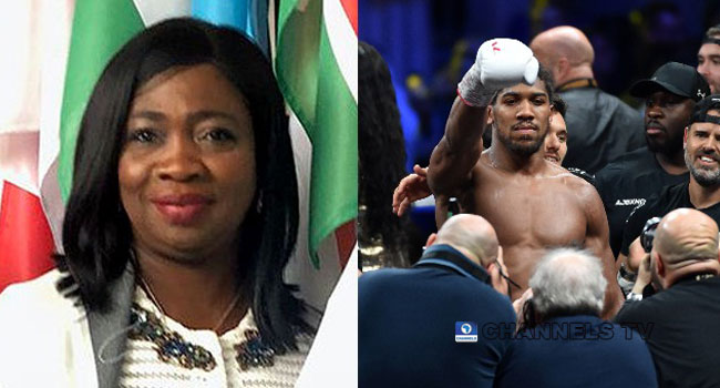 Anthony Joshua's Victory Serves As Inspiration To Nigerian Youths, Says Dabiri-Erewa