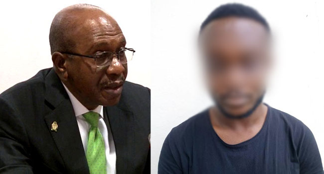 Suspected Fraudster 'Cooling Off' In EFCC Custody For Impersonating Emefiele
